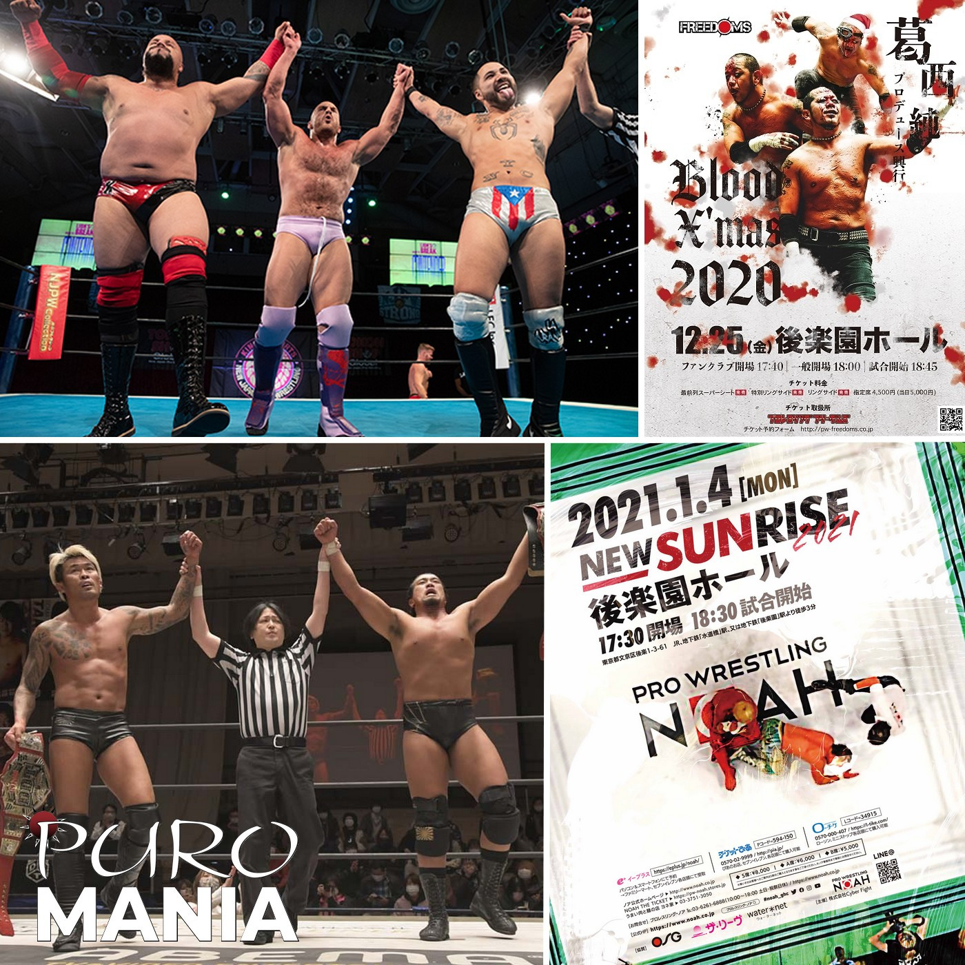 PuroMania #17 : Freedoms Blood X'Mas 2020 + NOAH + DDT & NJPW STRONG.