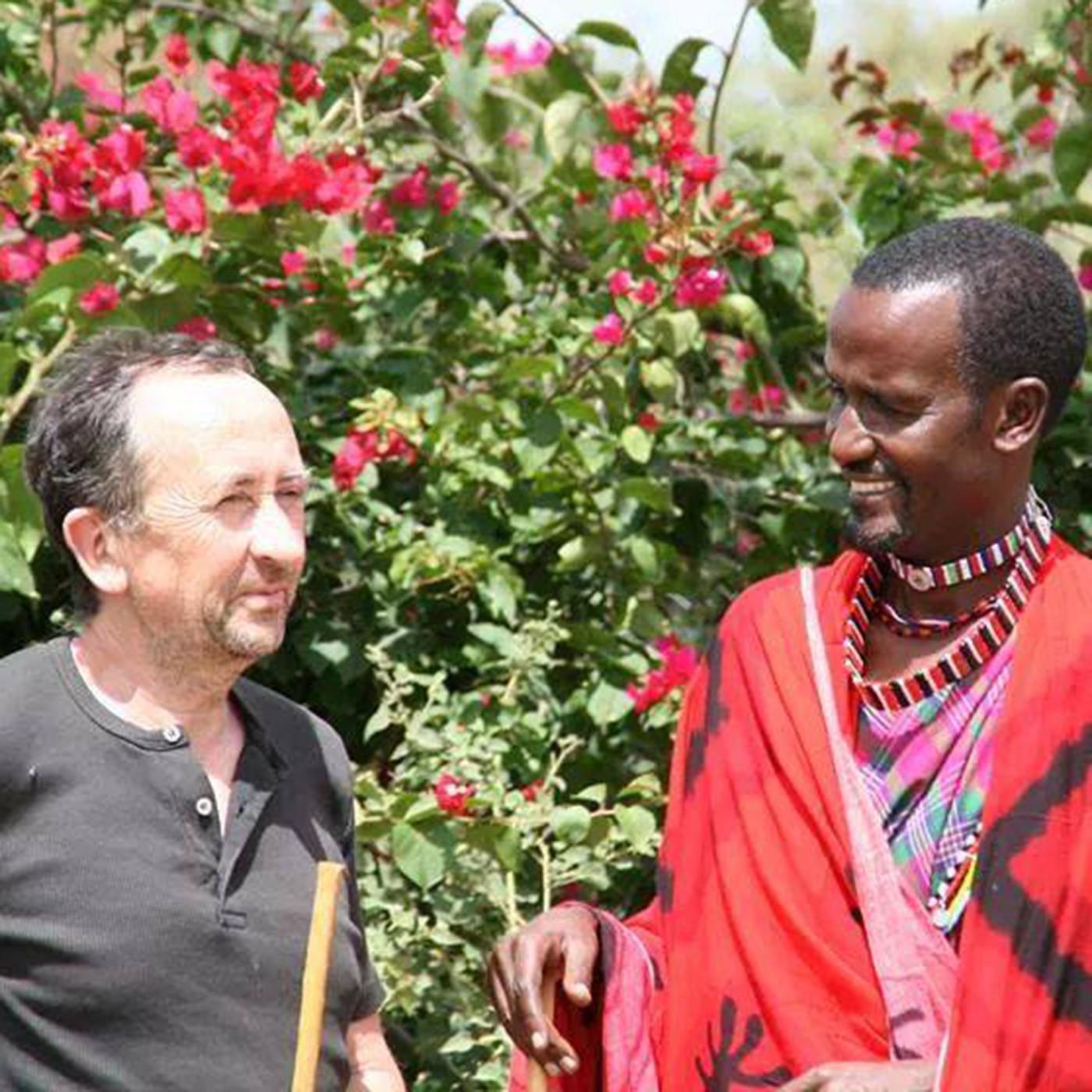Xavier Perron en terre Masaï