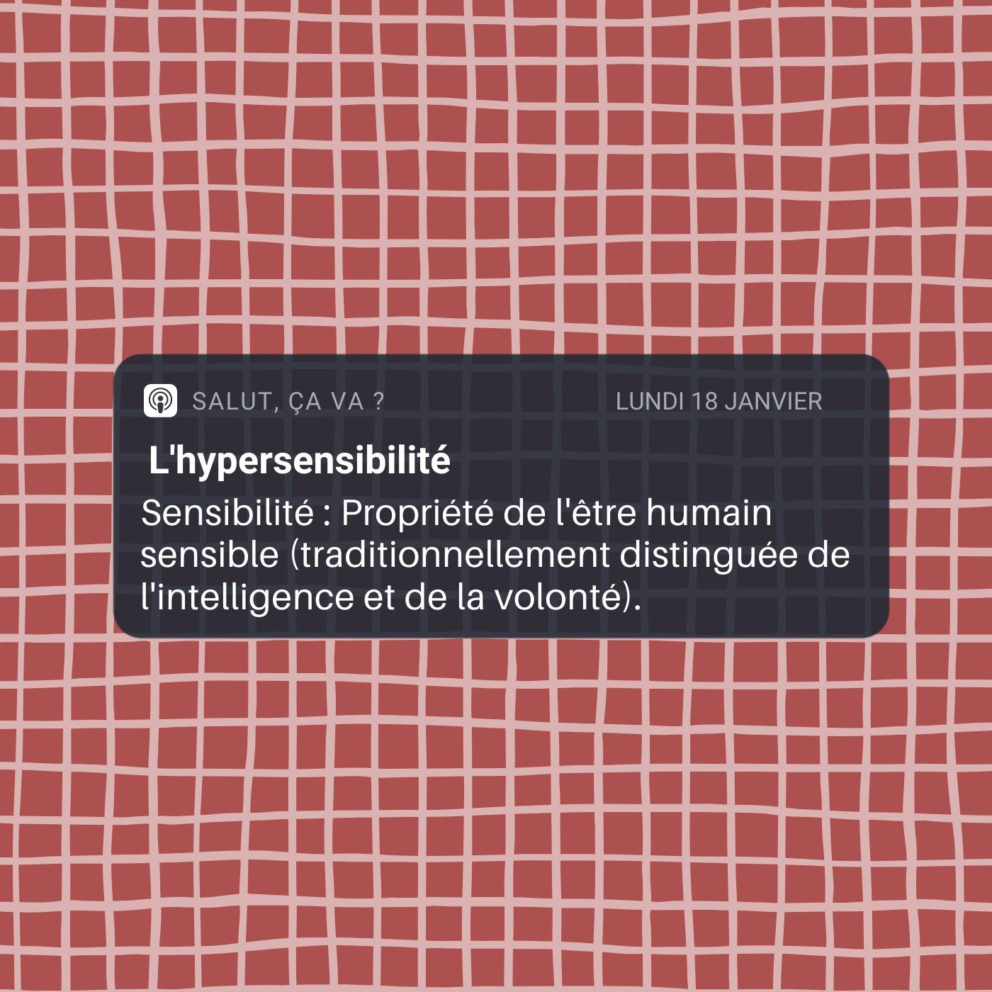 L'hypersensibilité