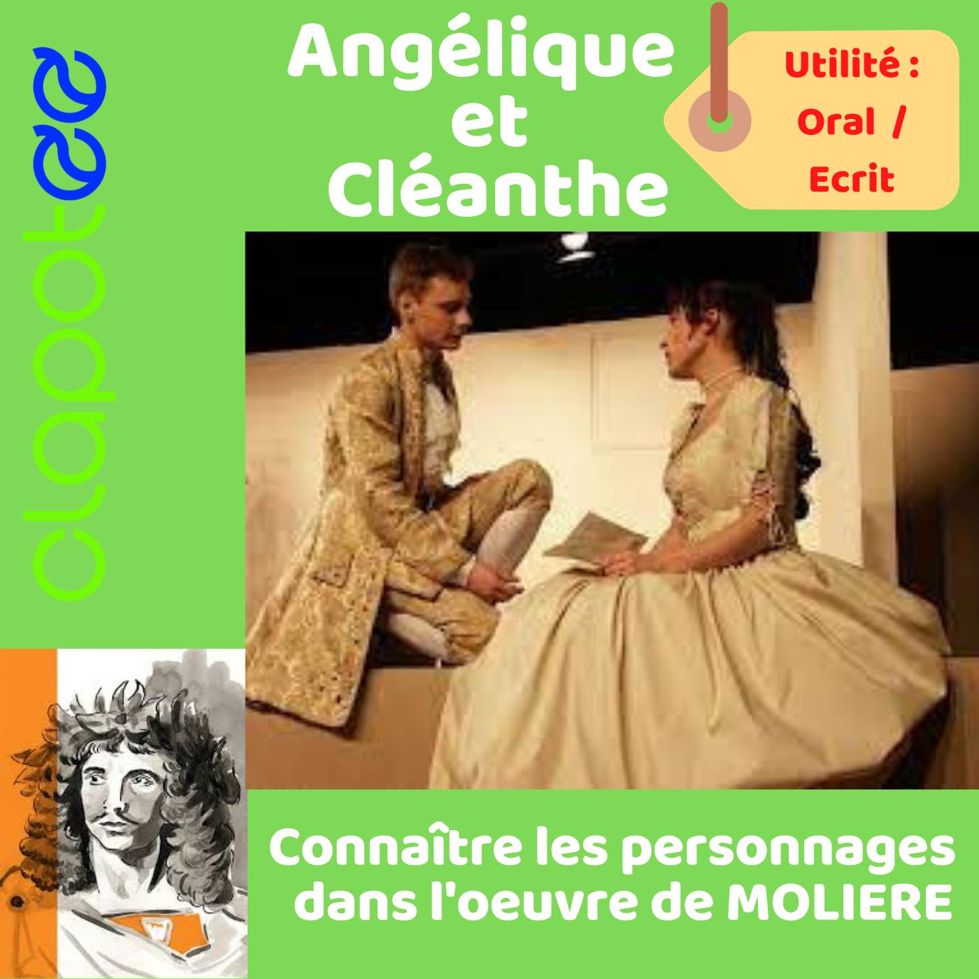 Angélique et Cléante , les amoureux du Malade Imaginaire de MOLIERE.