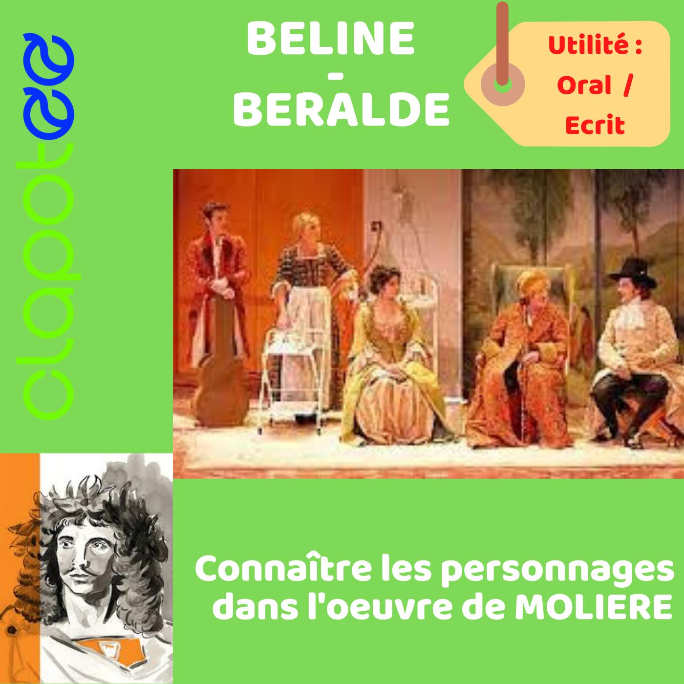 Béline et Béralde, les personnages secondaires essentiels du Malade Imaginaire de MOLIERE