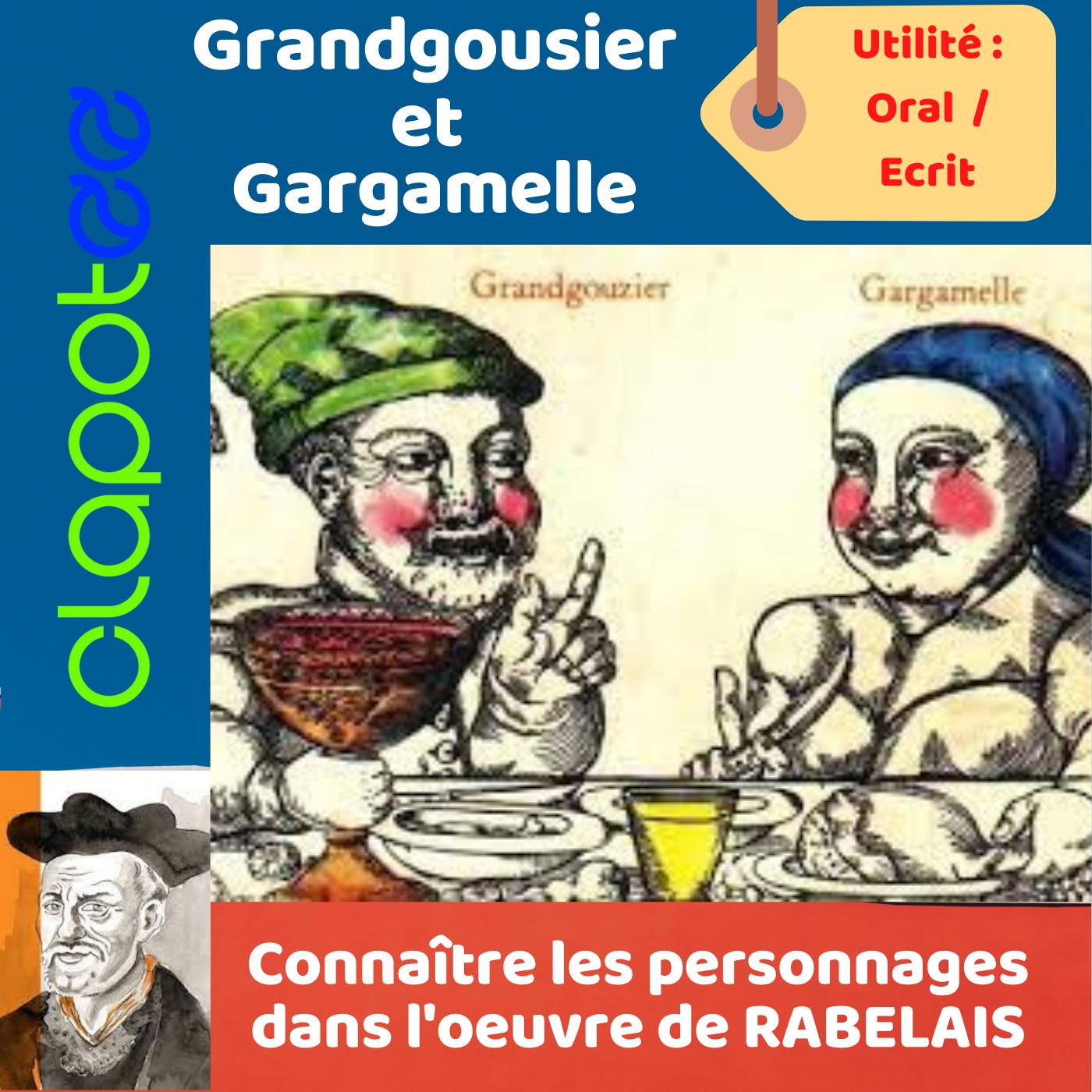 GRANDGOUSIER et GARGAMELLE, les parents géants de GARGANTUA.