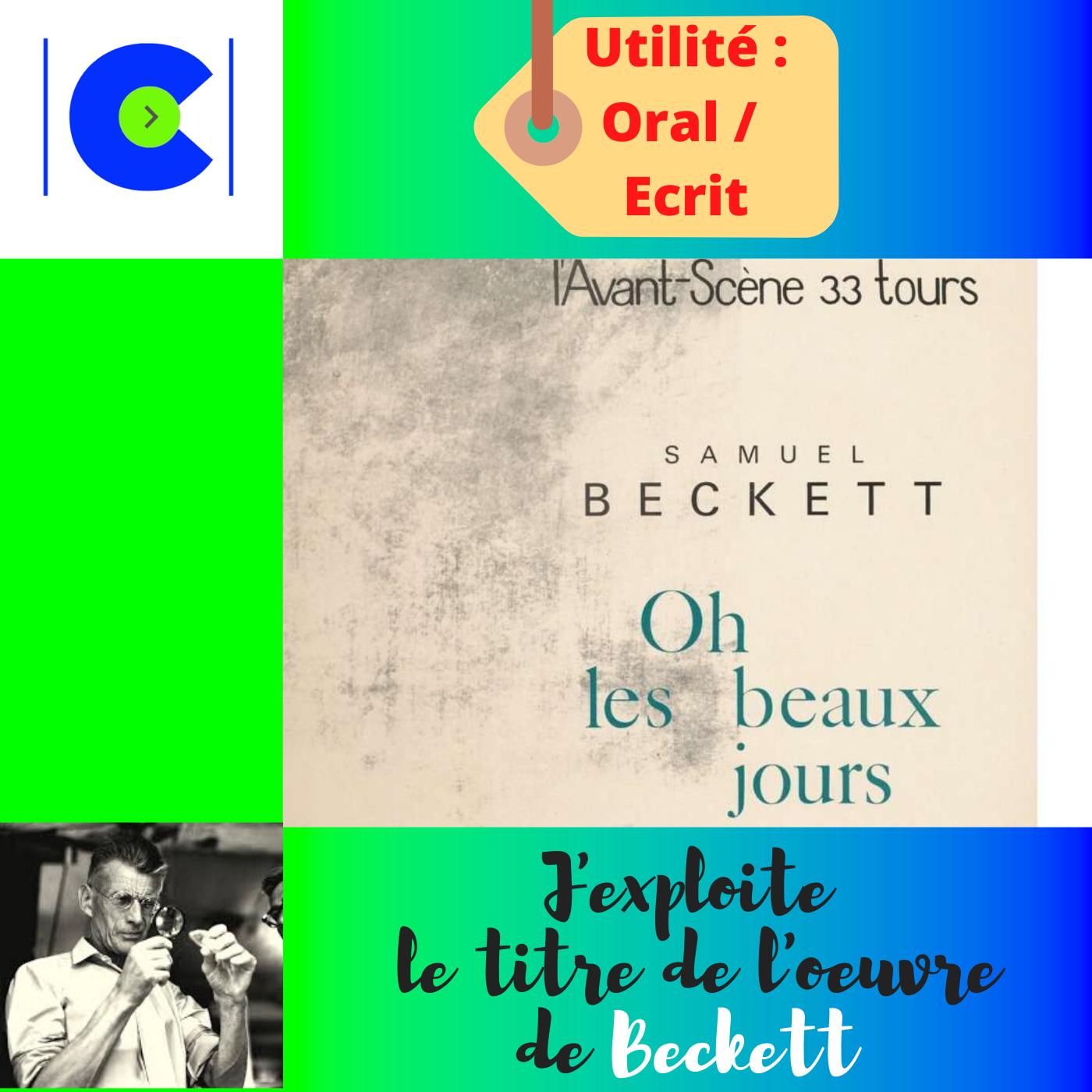 La portée du titre de l'oeuvre de BECKETT