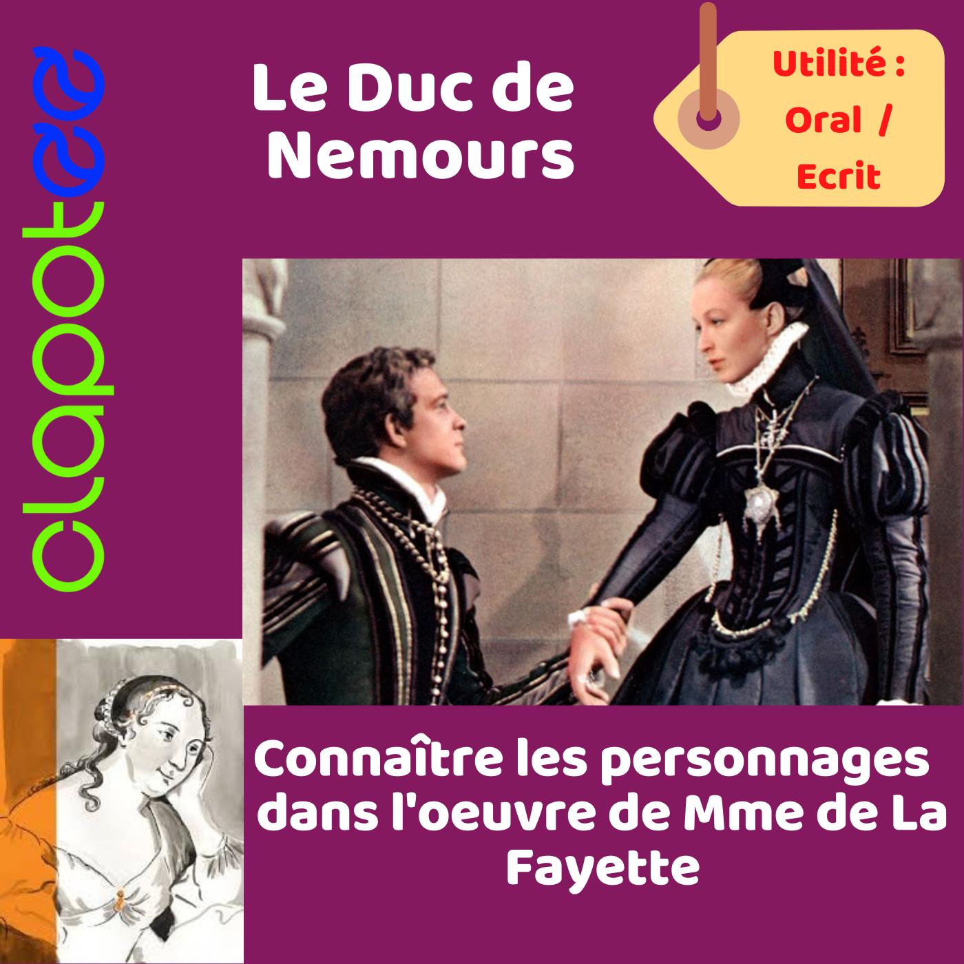 Le Duc de Nemours dans la Princesse de Clèves.