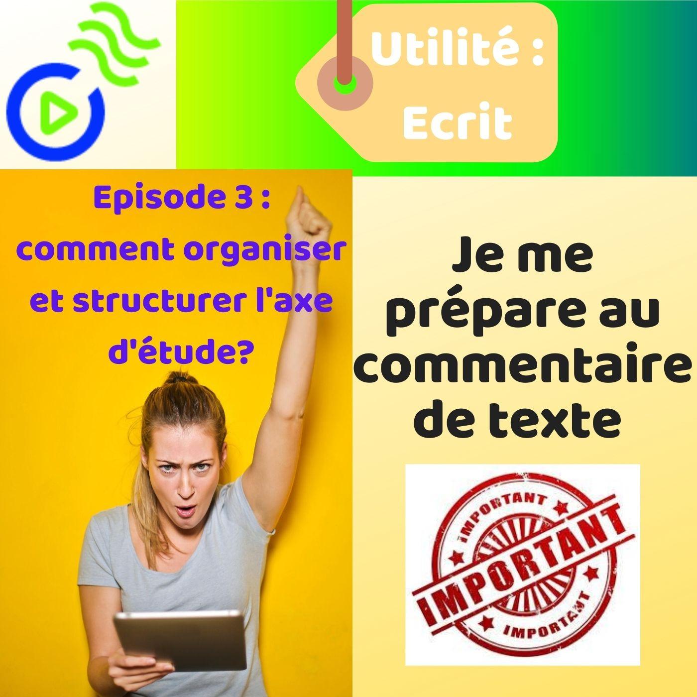 MÉTHODOLOGIE: Le Commentaire littéraire ( Episode 3)