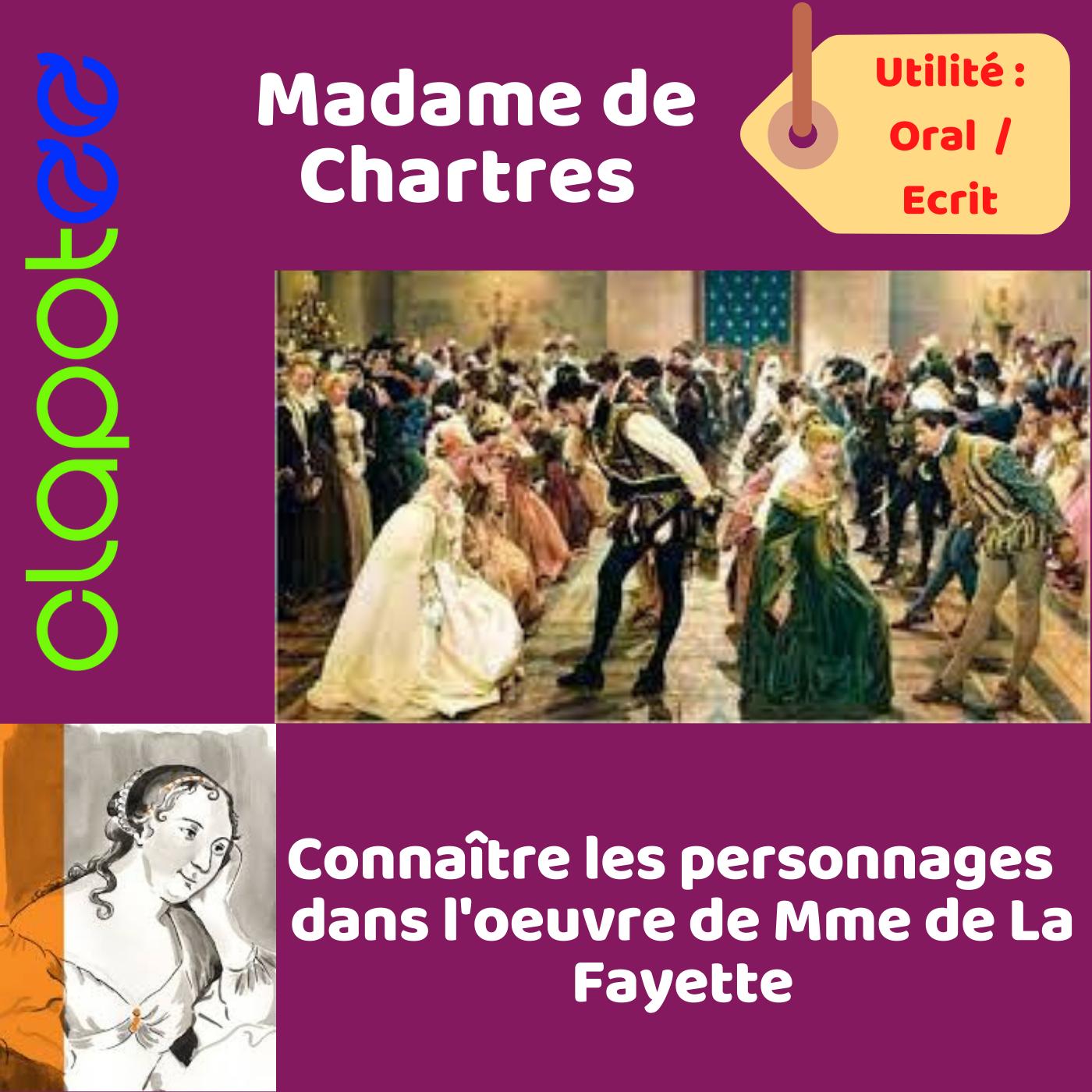 Mme de Chartres dans le roman de Mme de La Fayette.