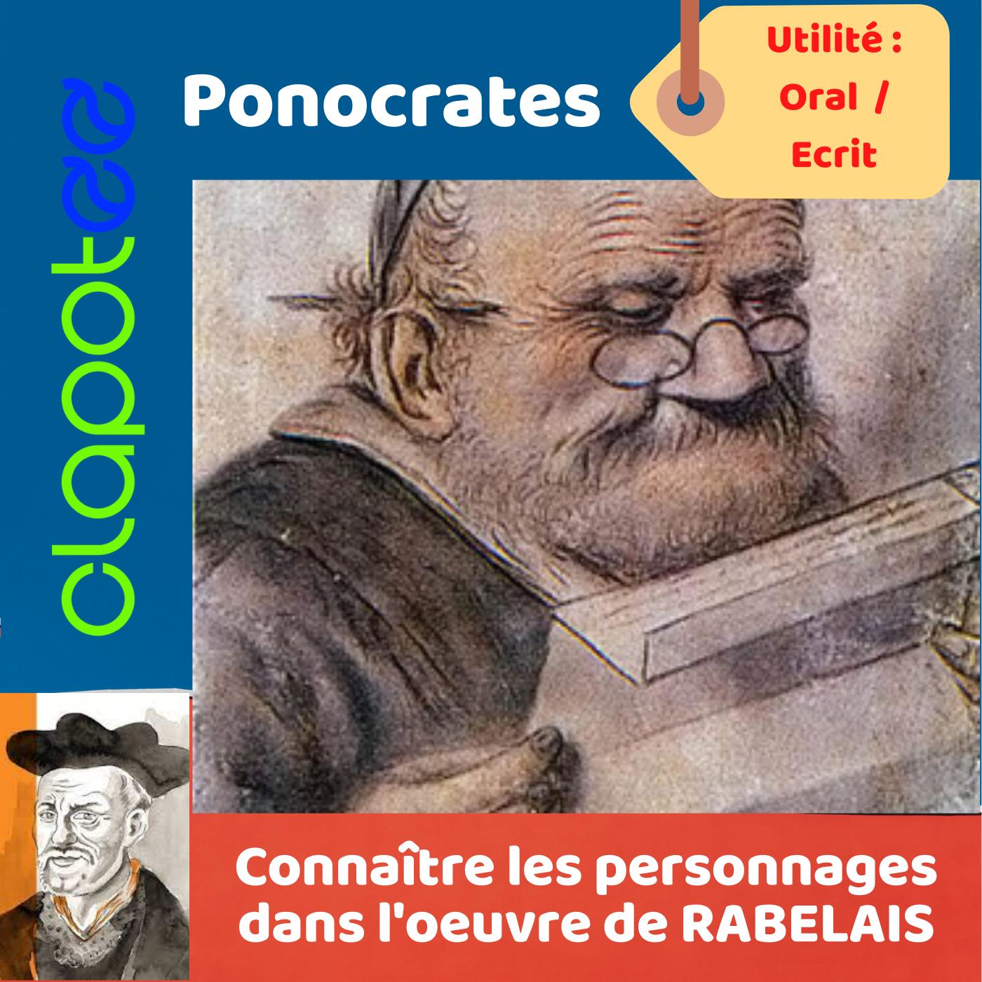 PONOCRATES, le précepteur humaniste dans l'oeuvre de RABELAIS.