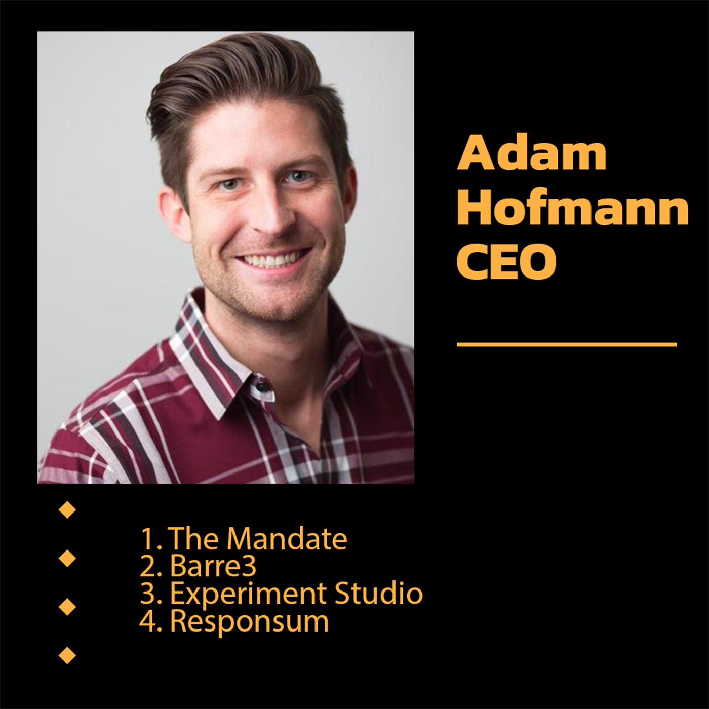 Adam Hofmann, Founder of The Mandate, and Serial Entrepreneur