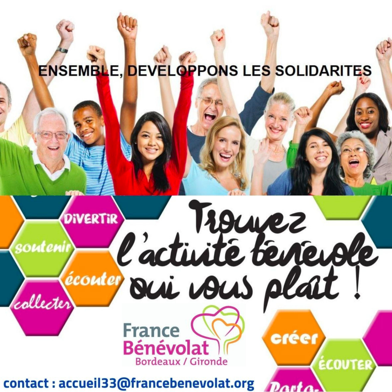 Carte postale radio [2020] : France Bénévolat Bordeaux-Gironde