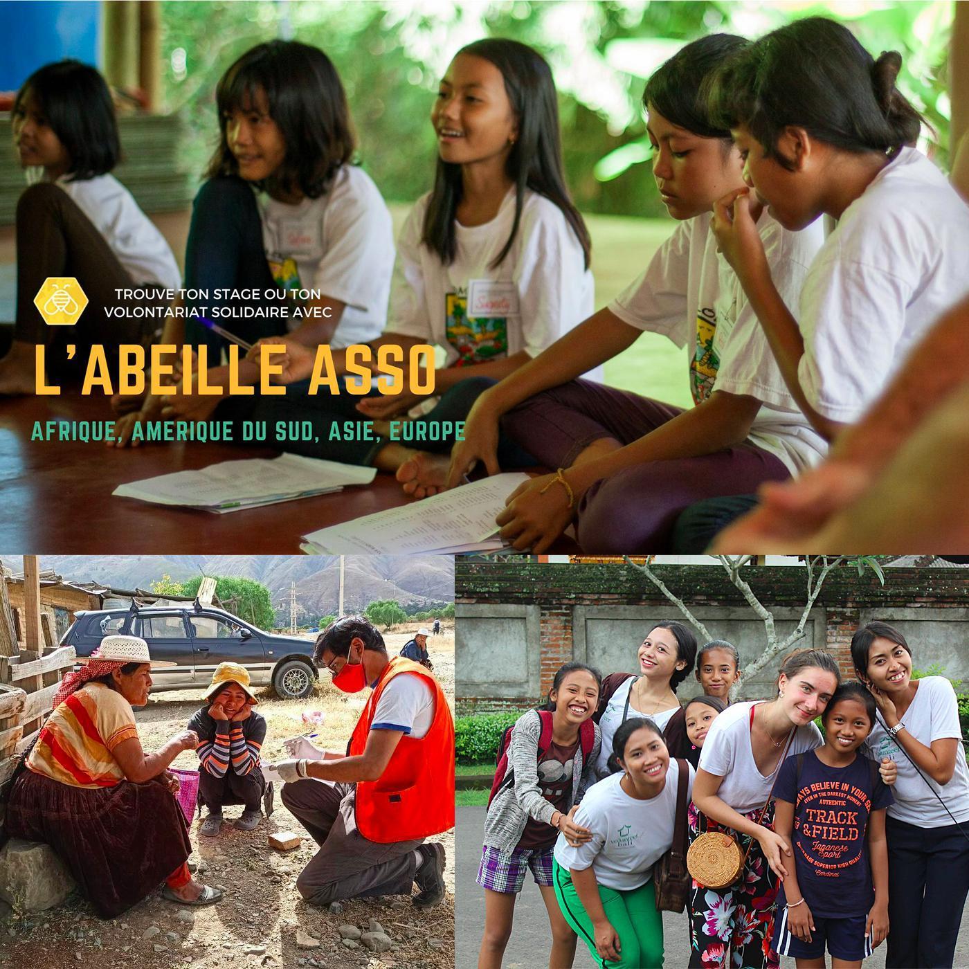 Carte postale radio [2021] : L'Abeille Asso, stages et volontariats dans plusieurs pays !