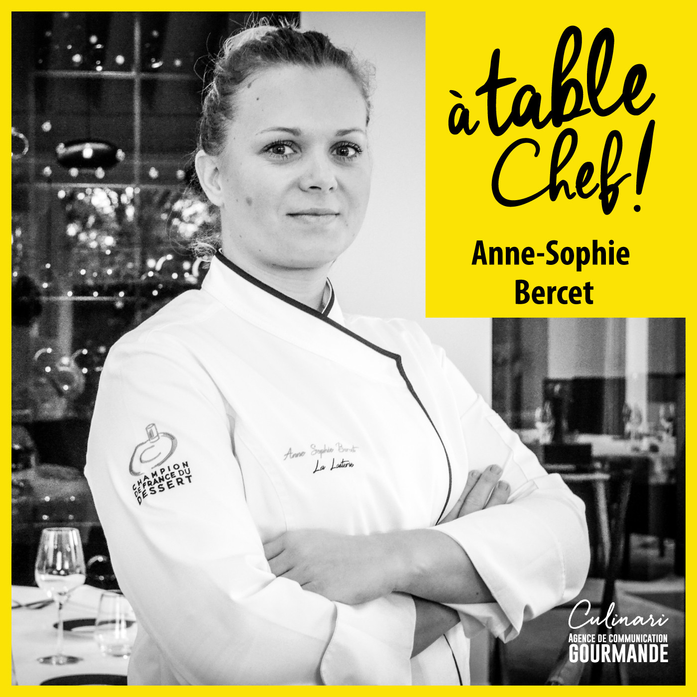 Cheffe Anne-Sophie Bercet