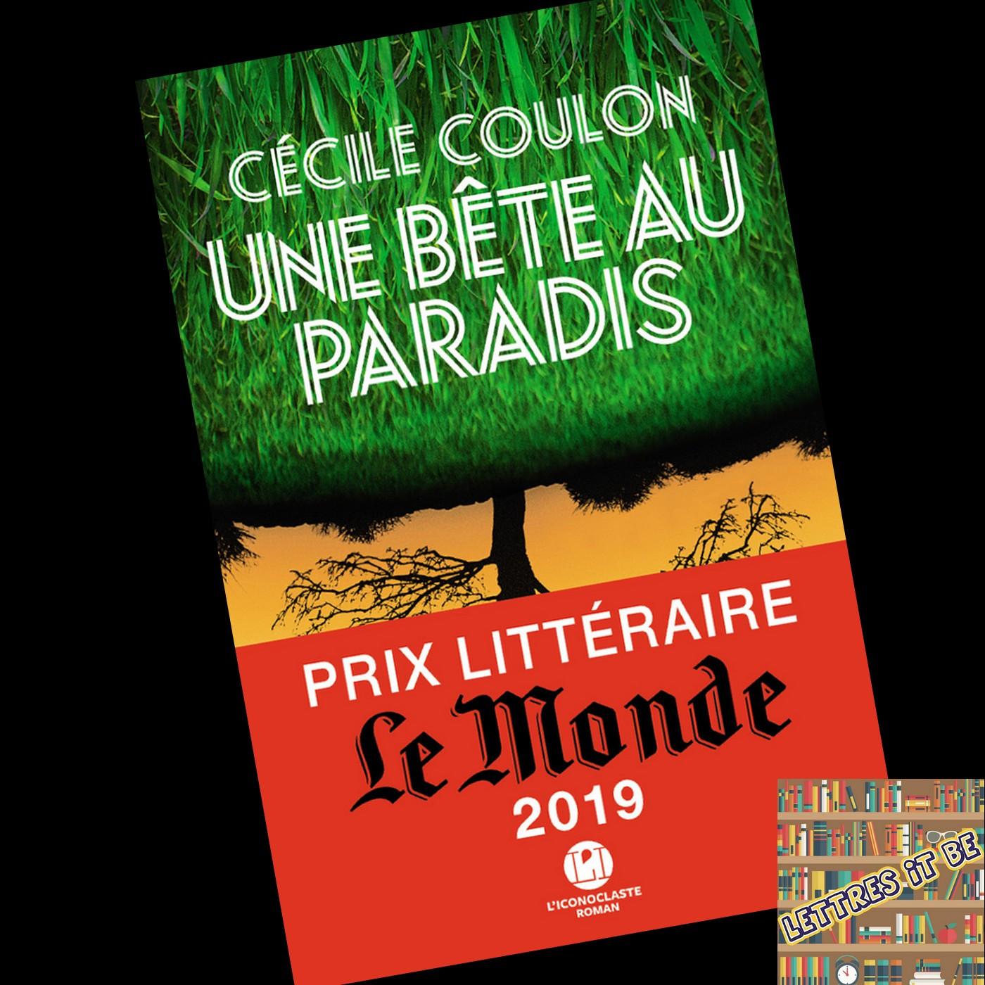 Critique d'Une bête au paradis de Cécile Coulon (Livre)