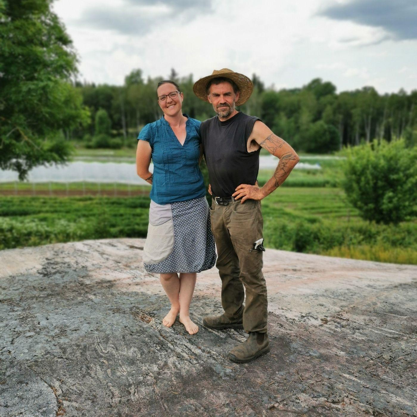 Sonia & Pierre - Maraîchers bio dans la campagne suédoise