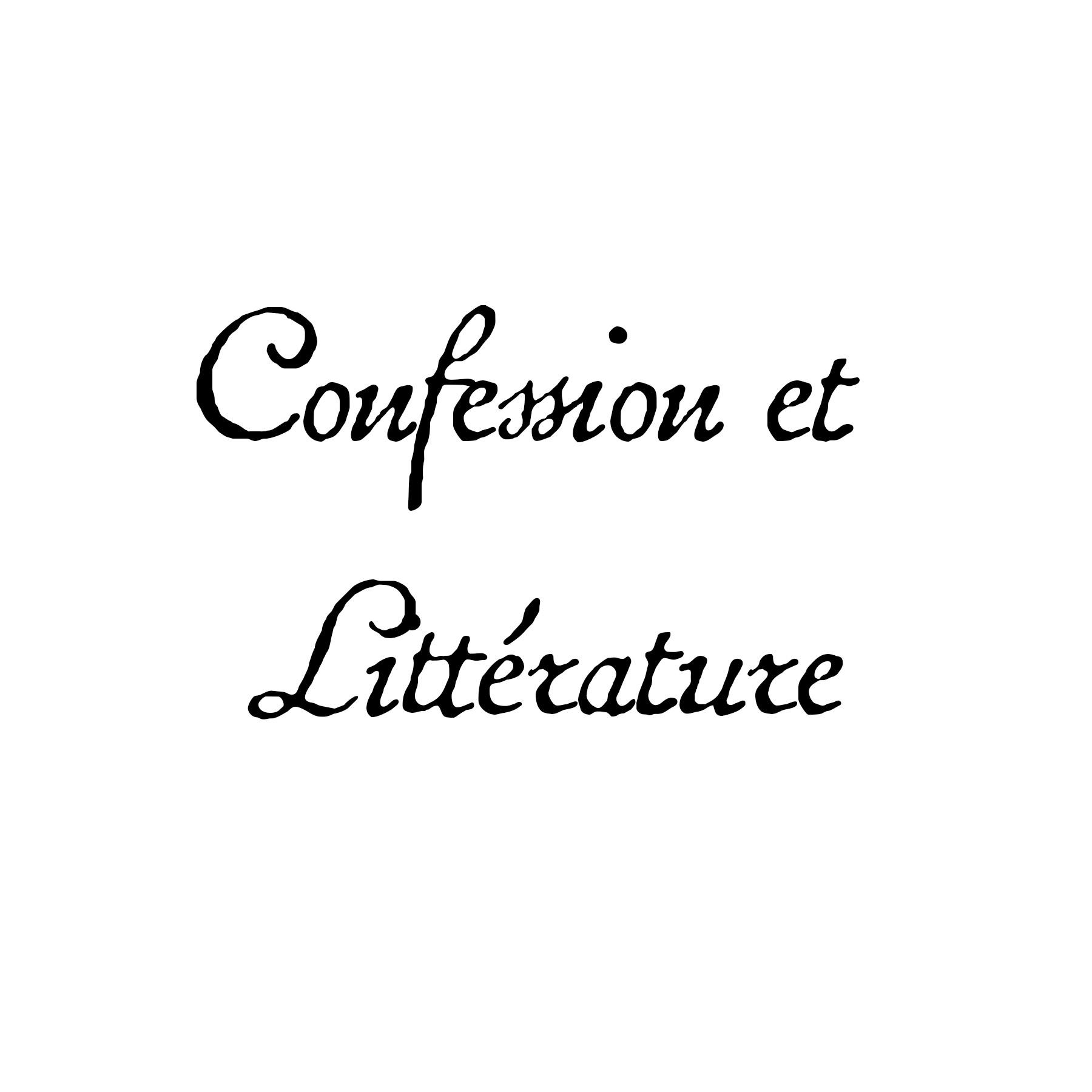 Confession et Littérature