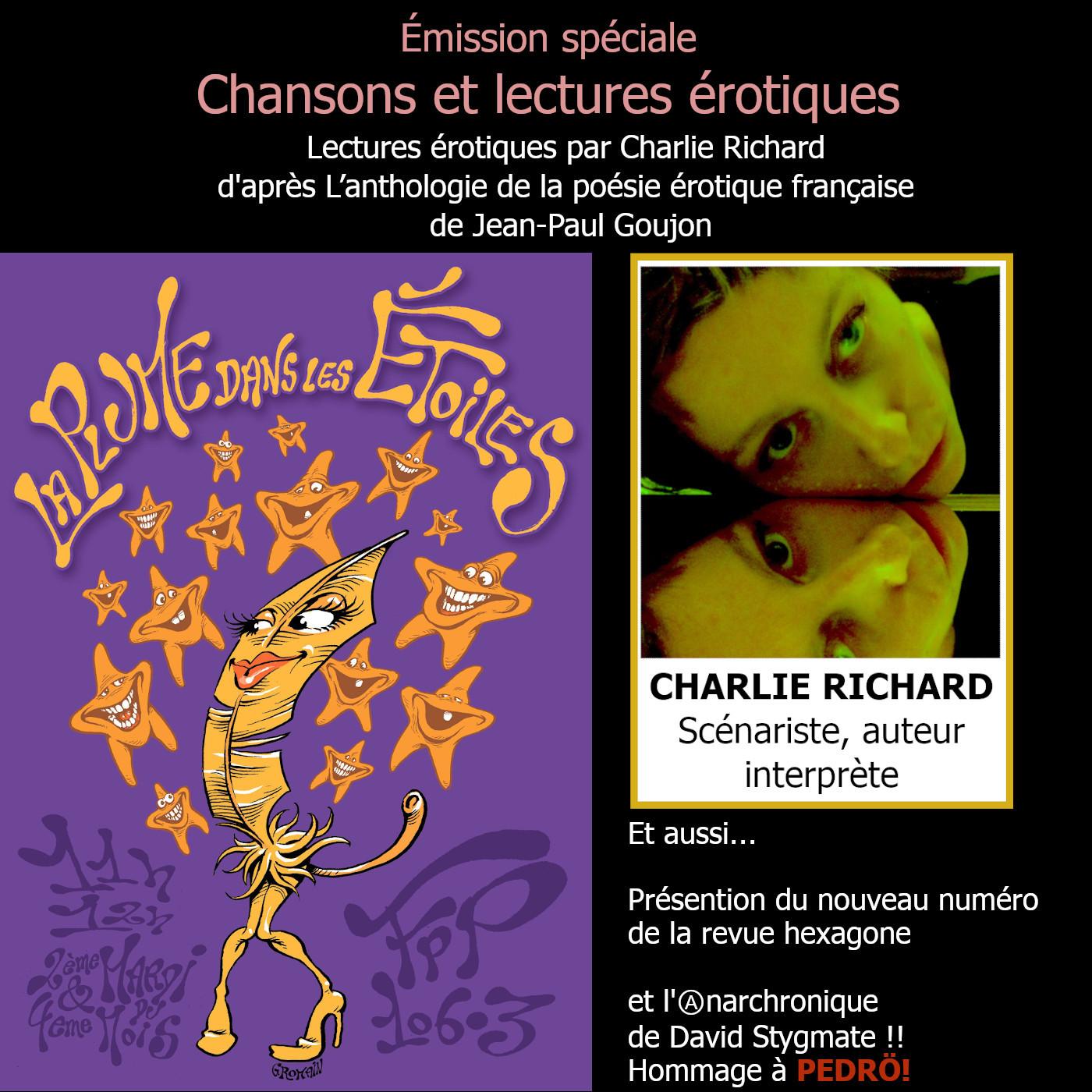 La Plume dans les Étoiles # 15 // Lectures érotiques par Charlie Richard