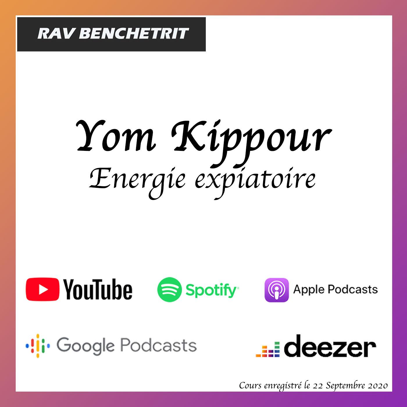 Kippour, Energie Expiatoire