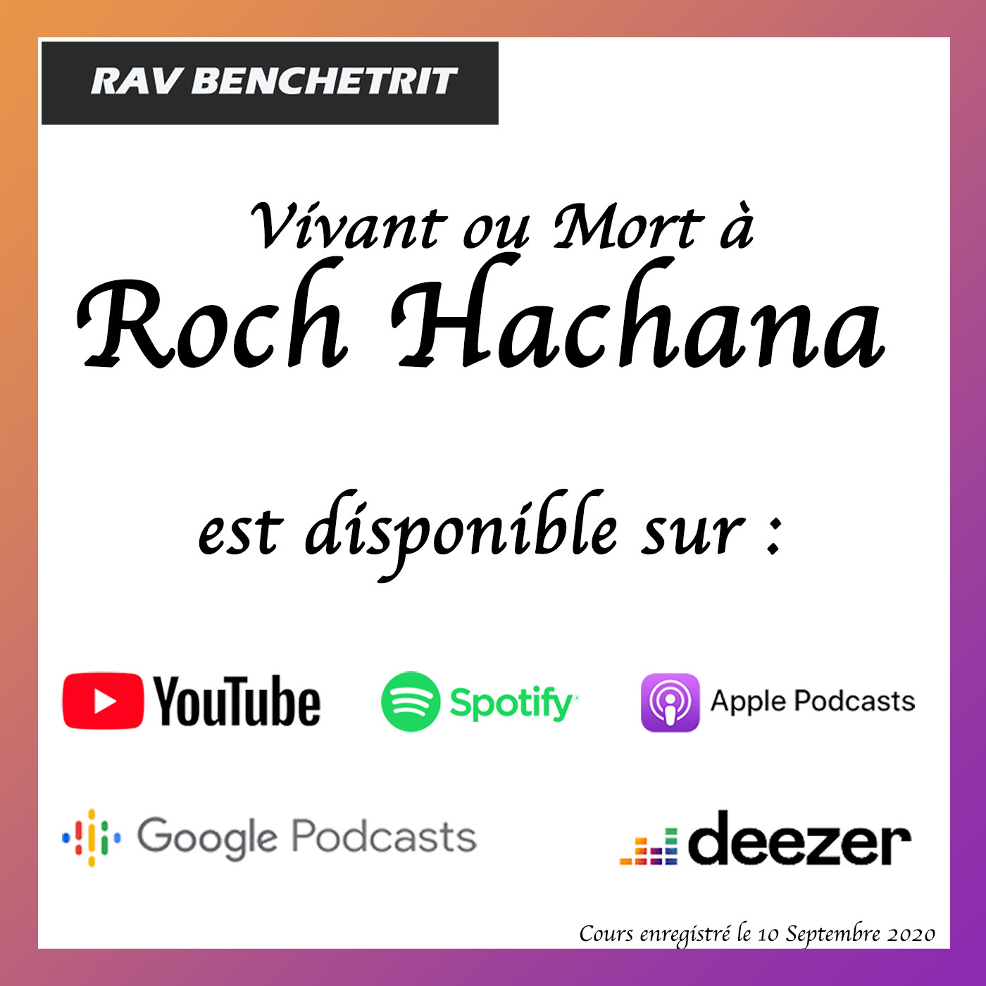 Vivant ou Mort à Roch Achana