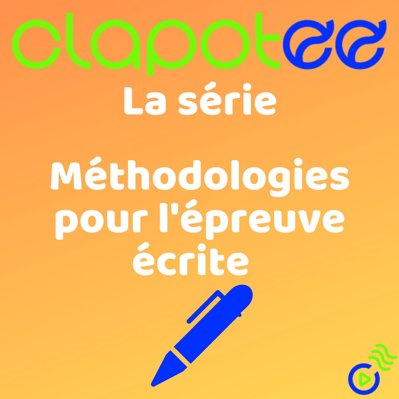 FRANÇAIS - Méthodologies pour l'épreuve écrite